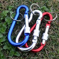 Carabiner Ring Keyrings Key Chains Outdoor Sport Camp Snap Clip Hook Keychain Hiking Aluminum Convenient Hike Camping