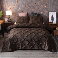 Luxus Black Duvet Cover Prise Fleeat Kurze Bettwäsche Set Queen King Size 3 stücke Bettwäsche Set Tröster-Abdeckung Set mit Kissenbezug45 472 V2