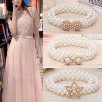 Belts Elegant Women Pearls Elastic Wedding Handmade Bridal Pearl Beaded Accessories