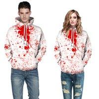 Mens Hoodies 스웨터 할로윈 남자 3D 공포 인쇄 후드 옷 힙합 Pullovers Streetwear 자켓 탑스