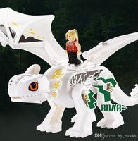 Quebra-cabeça Montagem Dragão Dragão Dinossauro Blocos de Construção Simulados Dinossauros Mundo Figuras Mundiais Boneca Bricks Boy Novty Brinquedos