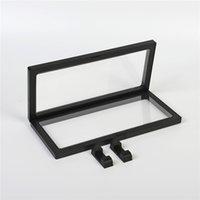230 * 110 transparente 3D suspenso caixa de embalagem de jóias pendurado broche de filme