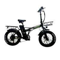 Wide Tire Foldable Electric Bike R8 Two Wheels Electric-Bicycles 20 Inch Smart Snow Beach 15AH 800W 48V Electrics Bikes Bicycle EU Stock