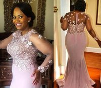 Plus Size Charming Pink Long Sleeves 2021 Mother Dress Beaded Evening Dress Mother of the bride Dresses For Wedding