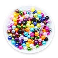 3/4 / 6/8 / 10mm Multicolors Sin orificio Acrílico Redondo Perlas Perlas Perlas sueltas Para Joyas Fabricación de Accesorios DIY 1953 Q2