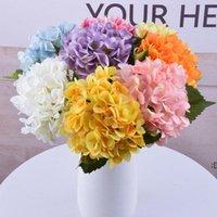 47cm artificial hydrangea Decorative Flowers head 19cm fake silk single real hydrangeas for Wedding Centerpieces DWB7053
