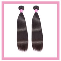 2 Bundles Brazilian Virgin Hair Extensions Straight 100% Human Hair Products Double Wefts Two Pieces