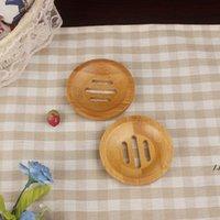 라운드 미니 비누 접시 크리 에이 티브 환경 보호 자연 대나무 비누 홀더 건조 비누 홀더 욕실 액세서리 DWE6069