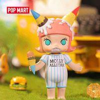 Pop Mart Molly Yummy Party Series ARTTOYS FIGHT ACTION SCHULDE BOX KAWAII Süßes nettes Geschenk Kinderspielzeug