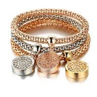 Tree of Life Bracelets Designer Vintage Designer Strass Gold Color Diamond Charm Braccialetto Popcorn Catena Gioielli per le donne Regalo di Natale PT2H
