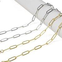 Semitree 1 Meter Nickel freie Edelstahlkette Gold Oval Link Bulk Ketten DIY Halskette Armband Machen Schmuckzubehör 1585 Q2