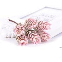 6 adet / Buket Yapay Çiçekler Ananas Çim Sahte Bitki Düğün Noel Dekorasyon için DIY Zanaat Ev Dekor Çelenk HWD6078