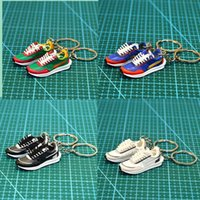 7 Stili Mini 3D Stereo Sneaker Sneaker Portachiavi Donna Bambini Portachiavi Anello Regalo Scarpe Keychains Car Borsa Auto Catena chiave Scarpe da basket Portachiavi