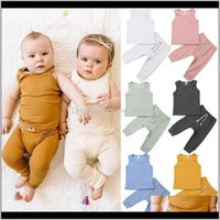 Clothing Baby, & Maternity2Pcs Fashion Born Toddler Cute Baby Clothes Sets Boys Girls Fine Lines Tops Vest Long Pants Kids Cotton Outfits 0-2