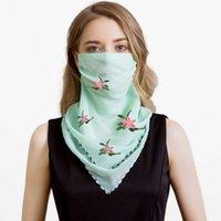 2021 moda sunburn creme pescoço máscara proteção dunne verão respirando xale chiffon triângulo xaile ao ar livre