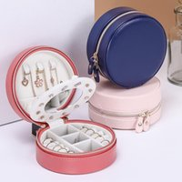 Jewelry Pouches, Bags Casket Cosmetic Storage Box Makeup Packing Organizer Container Case Portable Leather Travel