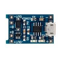 Mádulo de cargador de cargador de cargador de carga de batería de litio Micro USB 1A 18650 con módulos de protección de LED protectores