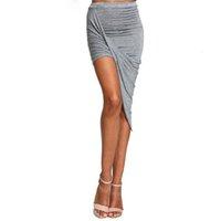 Sommer Frauen Rock Saum Cross Fold Sexy Wrap Barmed Taille Drapierte Frauen Rock Schneiden Sie asymmetrische Bleistiftröcke aus