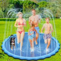 Splash Pad Beauty Tools 39in 59in 67in Sprinkler for Dog Kids Extra Large 0.5mm Thickened Durable and Foldable Pool Summer Outdoor Water Play Mat Toys to Dogs J02