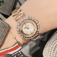 Montre Dimini / Dimini Fashion Women's Weaver Quartzo Geomantic Diamond Quisand Dial Steel Band Watch