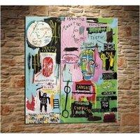 Quality Jean Michel High Basquiat Handpainted HD Печатная Настенная Живопись Маслом Роспись Домашний Декор На Холсте Размеры Варианты рамы G58
