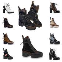 Luxurys Designers Mulheres Botas Senhoras Tornozelo Boot Fashion Womens Outono Inverno Alto Plataforma Curta Couro Superior Botas de Qualidade