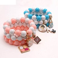 Meisjes Armband Sieraden Childrens Accessoires Hanger Kinderen Baby Kralen Manchet Bracelets Mode B7925
