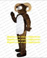 Brown Goat Ram Antelope Gazelle Sheep Mascot Costume Adult Cartoon Character Advertisement Promotion Capping Ceremony zz8113