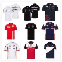 2021 F1 Fórmula uno Traje de carreras Equipo de coche Logo Fábrica Uniforme Hombres Polo Camiseta de manga corta Uniforme