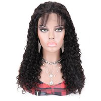 210% Yüksek Yoğunluklu Brezilyalı İnsan Saç Tutkalsız 4x4 Dantel Ön Peruk Kadınlar Için Gevşek Derin Kıvırcık Dalga Peruk