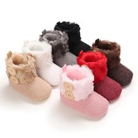 Boots 0-18M Winter Born Baby Boys Girls Snow Infant Toddler Soft Sole Fleece Shoes Anti-Slip Warm Crib First Walkers