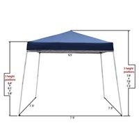 Waco 8x8 'Canopy portátil, Patio Shade, Pierna Slant Lightweight Compact, W / Mochila Easy One Person Set-Up Beach Tent, uso doméstico Tiendas plegables impermeables, Azul