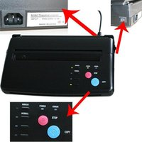 Transfert papier Tatouage noir Copier thermique Pochoir thermique Machine Machine Accessoires Machine Fournitures1