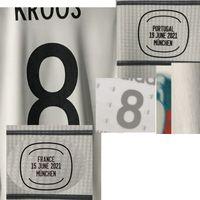Home Têxtil 2021 Jogador Desgastado Edição Kroos Muller Jogos Futebol Patch Badge