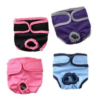 Dog Cotton Solid Color Physiological Pants Pet Underwear Diapers Female Sanitary Panty Apparel