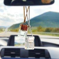 Car Air Freshener 10pcs Scent Perfume Bottle Ornament Essential Oil Diffuser Fragrance Hanging Empty Interior Accessory