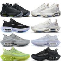 Zoom Chaussures de course à double empilement Hommes Femmes Formateurs Zoom extérieurs à peine volts Black Gris Mens Sports Sports Sports Femmes 36-45