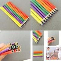 Fácil lluvia Bow Lápiz Colorido Dings Paisaje Bosquejo Niños Bocetos Bocetos Rainbow Pen Para Niños Qyliul