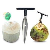 스테인레스 스틸 코코넛 오프너 수동 도구 워터 펀치 탭 드릴 밀짚 오픈 구멍 컷 선물 홈 주방 과일 오프너 도구 FWF8896