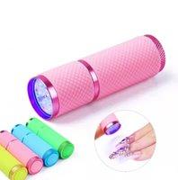 Nail Beauty Products LED Mini Torch Lamp Pärlor Quick-Torking Nail Portable UV Lamp UV Polish Special