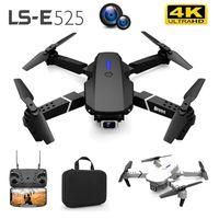LS-E525 بدون طيار 4 كيلو hd المزدوج عدسة البسيطة الطائرات بدون طيار wifi 1080 وعاء في الوقت الحقيقي انتقال fpv عريض كاميرات قابلة للطي rc quadcopter هدية لعبة