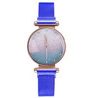 Wholesale nobile temperamento diamante marcatore donne orologi da polso al quarzo lucido maglia cinturino orologi da donna magnete fibbia orologio da donna