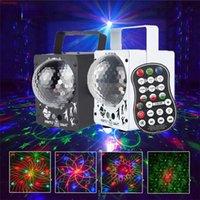 LED de discoteca LED LIGHTING RGB Proyector DJ Magic Ball 60 Patrones Luces de fiesta DC 5V Láseres Bar Crystal Holiday Fabric Light Efecto