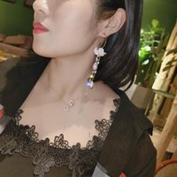 Dangle & Chandelier Women Earrings 2021 Pearl Shell Long Tassel Earring Drop Sweety Jewelry For Pendientes Statement