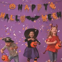 Party Decoration 2021 Halloween Banner Supplies Colorful Letters Happy Decor For Room Kids Child Gift Pull Flag