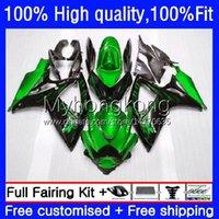 Molde de Injeção para Suzuki GSX-R750 K6 GSXR-750 GSXR600 2006 2007 Green Chames Body 21no.77 GSXR 600 750 CC GSX-R600 750CC GSXR-600 06-07 GSXR750 600cc 06 07 Fairing OEM