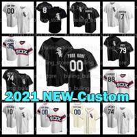 2021 Nouveau Chicago sur mesureblancSoxJerseball Jerseys 27 Lucas Giolito 88 Luis Robert 79 Jose Abreu 2 Adam Eaton 15 Adam Engel