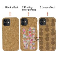 U&I Blank Cork Wood Phone Cases For iPhone 11 Pro Max 12 Xs Xr Eco Friendly 100% degradable Shockproof Protect Mobile Phones Cover