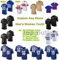2021 Giants American Football Jerseys Darius Slayton Jersey Ryan Santoso Elerson Smith Leonard Williams Andrew Thomas Carson Tinker Individuell genäht