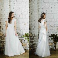 2020 Duas peças vestidos de dama de honra lace applique jewel pescoço botão vestido de baile de volta vestes de demoiselle d'honneur
